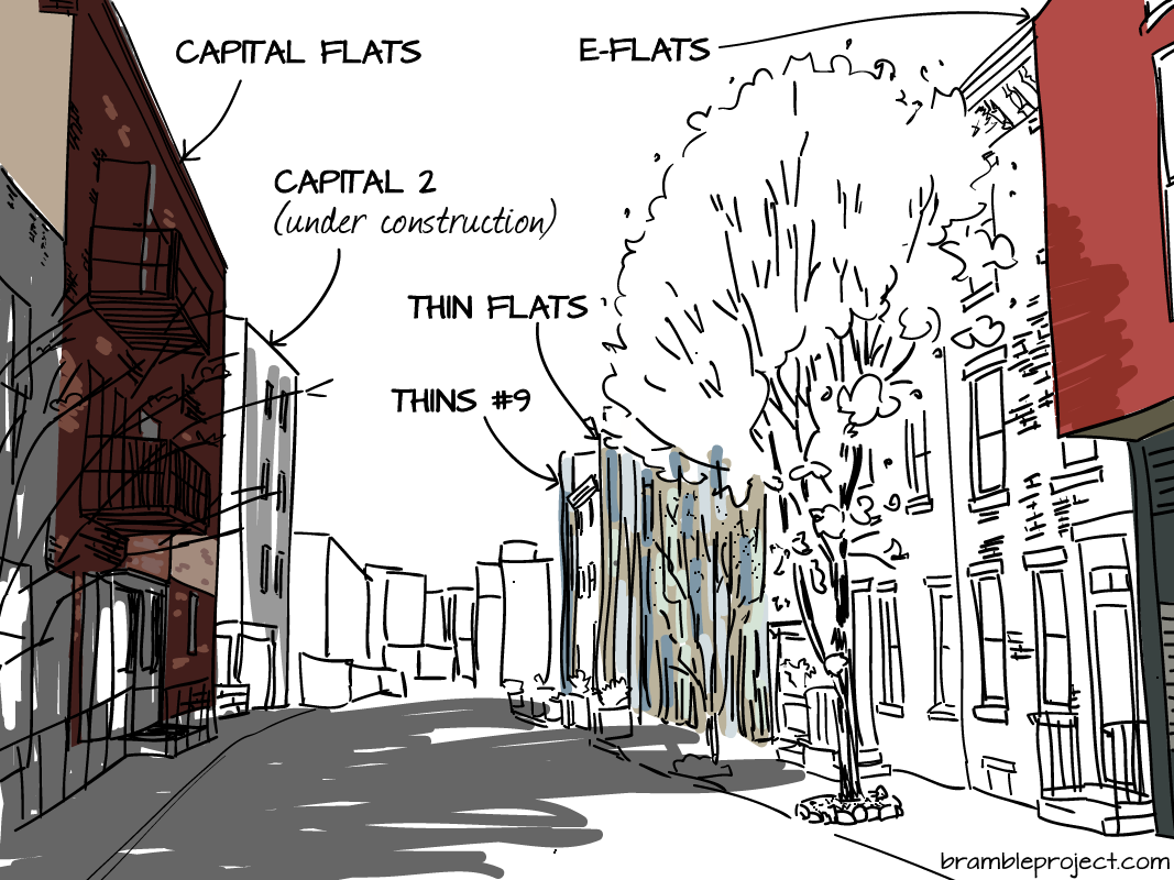 Drawing: Capital and Thin Flats by Onion Flats